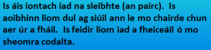Radharc den Phairc / na Sleibhte