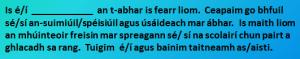 An t-ábhar is fearr liom