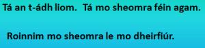 Mo sheomra féin - roinnim mo sheomra